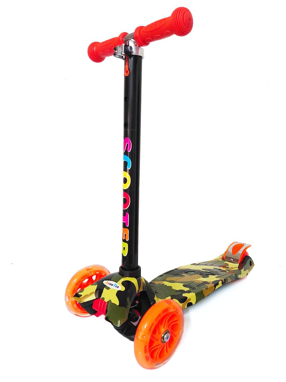 Самокат трехколёсный Scooter с принтом