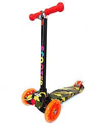 Самокат триколісний Scooter з принтом