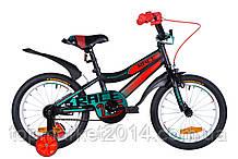 """Дитячий велосипед FORMULA RACE 16"""" (чорно-помаранчевий з берюзовым)"""