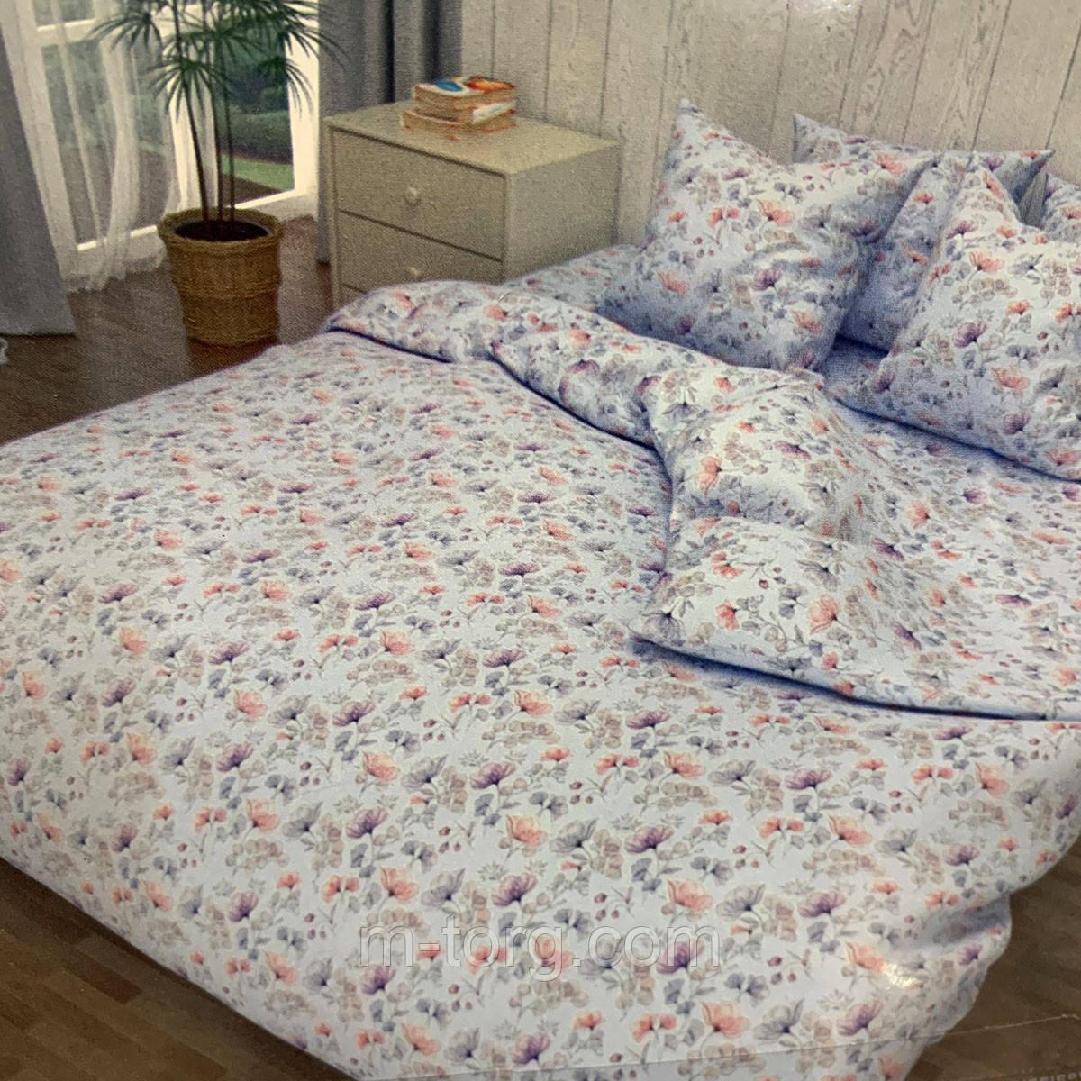 """""""голубое"""" Комплект постельного белья двуспальный 175/210, нав-ки 70/70, ткань бязь, 100% состоит из хлопка"""