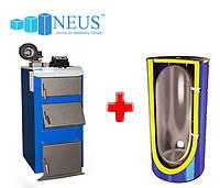 Пакетное предложение: Твердотопливный котел 31 кВт дрова, уголь НЕУС-В + теплоаккумулятор 250 л