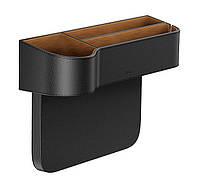 Автомобильный органайзер между сиденьями Baseus Elegant Car Storage Box Кожа Черный (CRCWH-01)