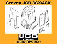 Стекло двери левое JCB 3CX/4CX
