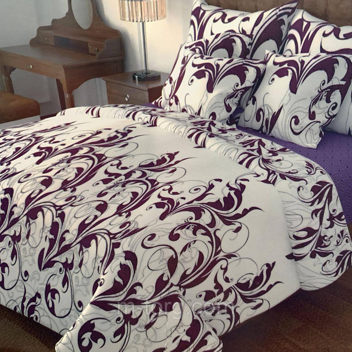 """""""узоры"""" Комплект постельного белья полуторный 150/210 см, нав-ки 70/70, ткань сатин, 100% состоит из хлопка"""