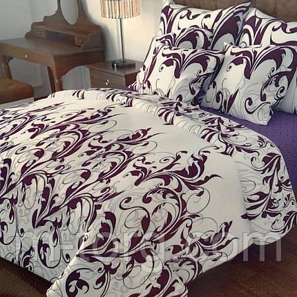 """""""узоры"""" Комплект постельного белья полуторный 150/210 см, нав-ки 70/70, ткань сатин, 100% состоит из хлопка, фото 2"""