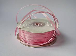 Стрічка атласна 0,3см світло-рожева