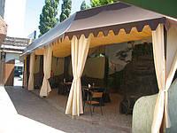 Драпировка потолков и стен тканью на летних площадках, фото 1