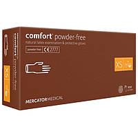 Перчатки латексные MERCATOR Comfort Powder-Free WHITE неопудренные, размер XS, 100 шт