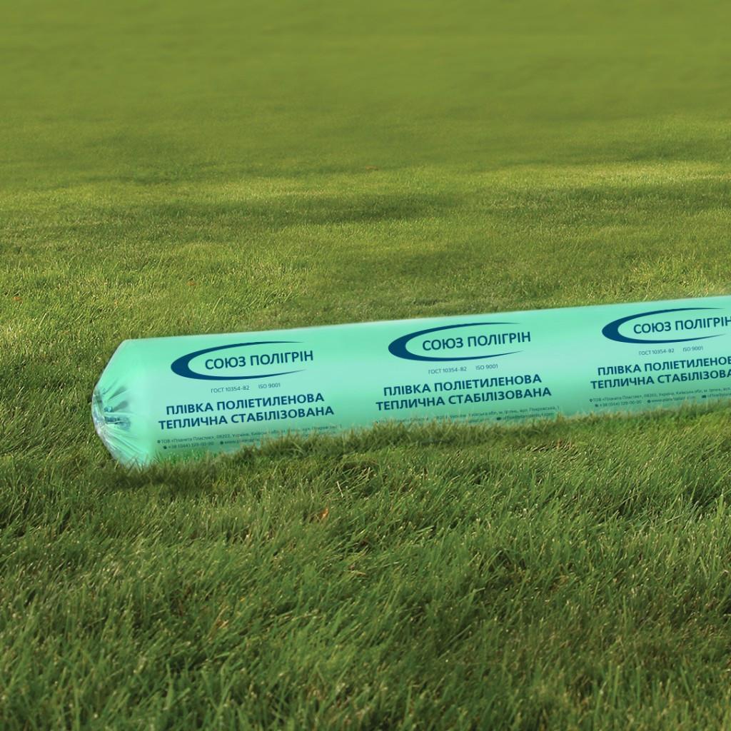 Однослойная тепличная пленка зеленая Гринс 100 мкм 6х50 м (стабилизация 12 месяцев)
