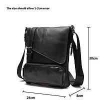 Мужская кожаная сумка. Модель 0422, фото 8