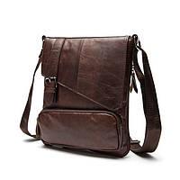 Мужская кожаная сумка. Модель 0422, фото 4