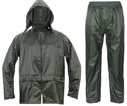 Костюм (куртка+брюки) водостойкий Červa ветрозащитный Полиэстер с ПВХ-покрытием Carina капюшон зеленый