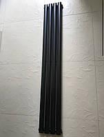 Радиатор дизайнерский вертикальный Rimini II 4/1800 Черный матовый 1800*236, фото 1