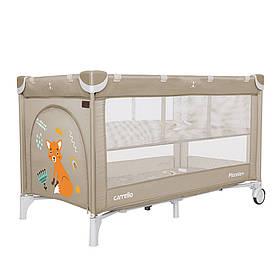 Манеж-ліжко 2в1 Carrello Piccolo+ CRL-9201, Cream Beige