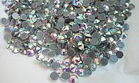 Стразы А+ премиум, Crystal AB SS16 (3,8-4,0мм), термоклеевые. Цена за 144 шт