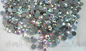 Стразы А+ премиум, Crystal AB SS6 (1,9-2,1мм), термоклеевые. Цена за 144 шт