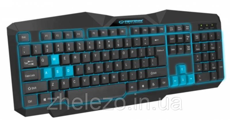 Клавиатура Esperanza EGK201 (EGK201BUA) Blue USB, фото 2