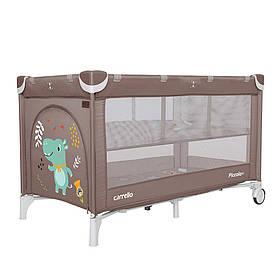 Манеж-ліжко 2в1 Carrello Piccolo+ CRL-9201, Chocolate Brown