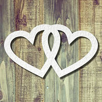 Чипборд сердца свадебные