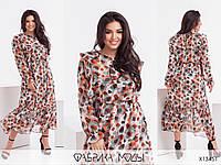 Нежное шифоновое женское платье терракотовое (3 цвета) PY/-1062, фото 1
