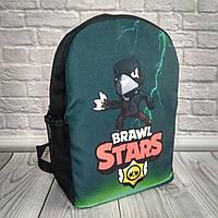 Рюкзак детский, рюкзак школьный, для школьника, Brawl Stars Crow Бравл старс Ворон В*Ш*Г - 36см*24см*13см