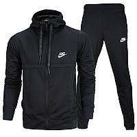 Спортивный костюм весна-осень черный NIKE с кап К-405 BLK L(Р) 21-658-013