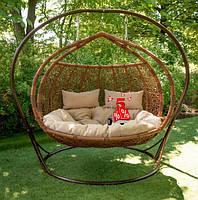 Садовое подвесное кресло качели кокон Glamur, подвесное кресло яйцо,кресло-качели, Подвесные садовые качели