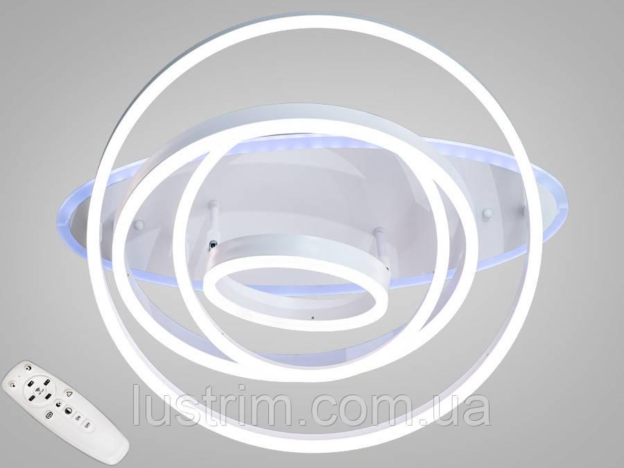 Світлодіодна LED люстра з діммером і підсвічуванням 135W