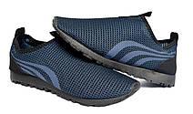 Мокасины кеды мужские летние синие 40 размер, фото 2