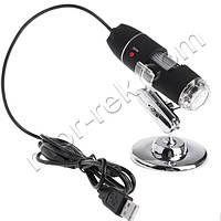 Цифровой микроскоп USB Magnifier SuperZoom 0-1600X с LED подсветкой