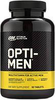 Витамины для мужчин Optimum Opti-Men 90 таблеток минеральный комплекс для спортсменов