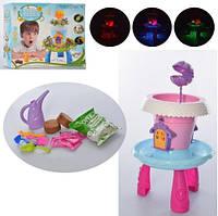 Домик JLS-01-02 (18шт) на столике, огород, садовый инвентарь, 2 цвета, в коробке, 32,5-26,5-8см