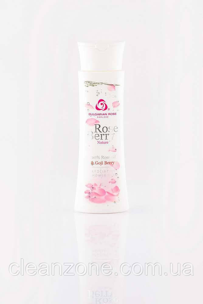 BULGARIAN ROSE ROSE BERRY NATURE EXFOLIATING SHOWER GEL Відлущуючий гель для душу з ягодами годжі