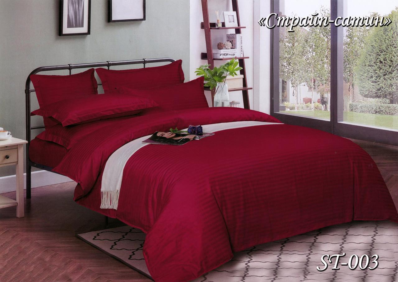 Комплект постельного белья Тет-А-Тет семейный Страйп сатин ST-003