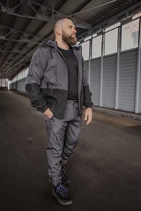 Костюм Чоловічий сірий - чорний осінній Intruder Softshell Light Куртка чоловіча весняна + штани демісезонні, фото 3