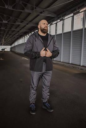 Костюм Чоловічий сірий - чорний осінній Intruder Softshell Light Куртка чоловіча весняна + штани демісезонні, фото 2