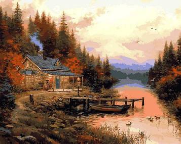 Картины по номерам 40×50 см Babylon Томас Кинкейд Осенний пейзаж (VP 1352)