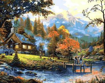 Картины по номерам 40×50 см Babylon Томас Кинкейд Загородная жизнь (VP 1353)
