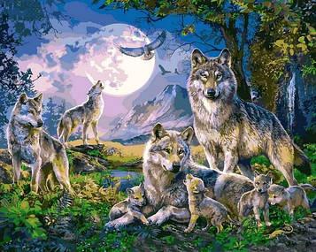 Картины по номерам 40×50 см Babylon Волчья стая (VP 1357)
