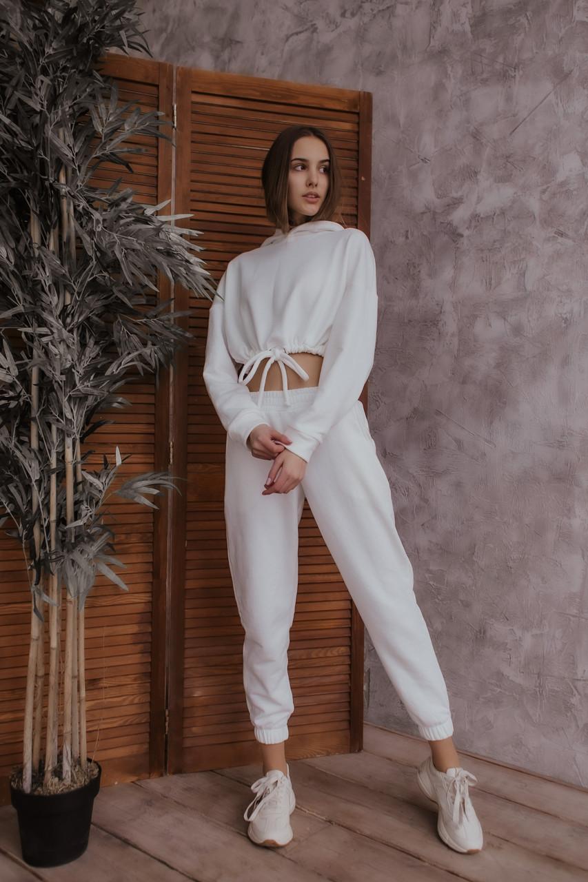 Костюм женский 'Short' осенний весенний летний худе и штаны молочно-белый Intruder