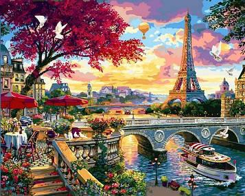 Картины по номерам 40×50 см Babylon Цветущий Париж (VP 1359)