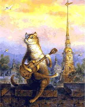 Картины по номерам 40×50 см Mariposa Ночные песни под гитару В. Румянцев (Q 2126 new)
