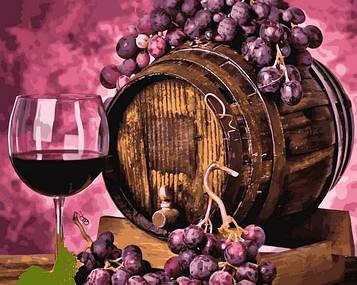 Картины по номерам 40×50 см Mariposa Бочонок вина (Q 2258)