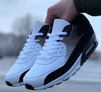 Кроссовки мужские в стиле Nike AIR 90 черно-белые 40, 41, 42, 43, 44, 45. (Black-white)