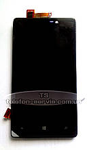 Дисплей Nokia 820 Lumia, черный, с тачскрином
