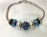 Браслет Pandora от Swarovski женский синий микс