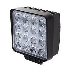 Светодиодная фара дальнего света 105х105мм Vitol LML-K1748 SPOT (16 LED*3w)