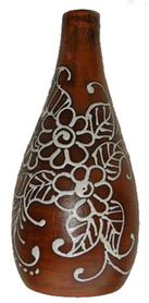 Бутылка глиняная 700 мл с пробкой