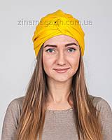 Шапка Тюрбан ангора желтый