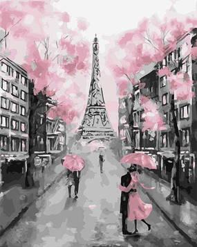 Картини за номерами 40х50 см Brushme Рожевий париж (GX 22055)